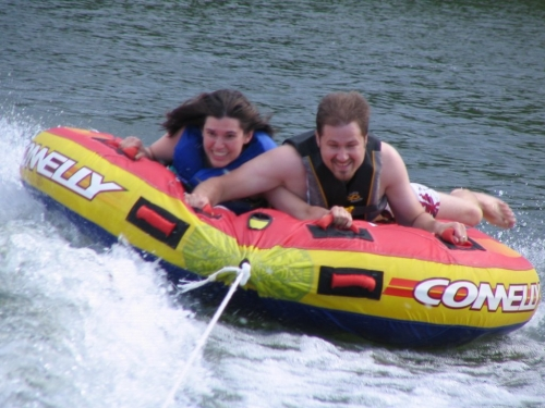 Me and Dana water tubing