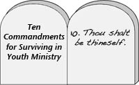 Ten commandments for surviving in youth ministry