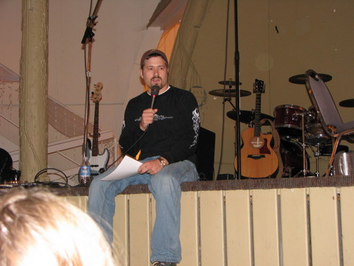Tim teaching at Burning Bush