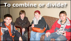 To combine or divine the youth group?