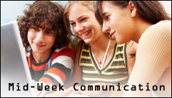 Mid-week communication with teens