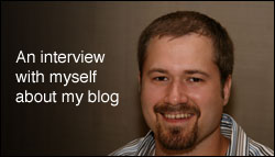An interview with myself about my blog