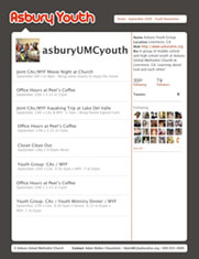 Twitter newsletter for youth groups