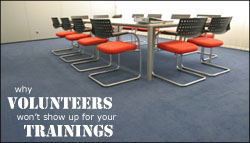 Why volunteers won't show up for your training