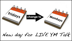 LIVE YM Talk on Mondays now