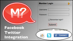 Facebook and Twitter integration with MinistryQuestions.com