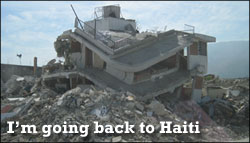 I'm going back to Haiti